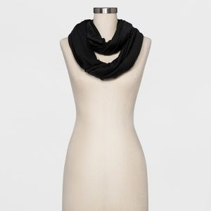 Women's Black Jersey Loop Scarf NWT - 753
